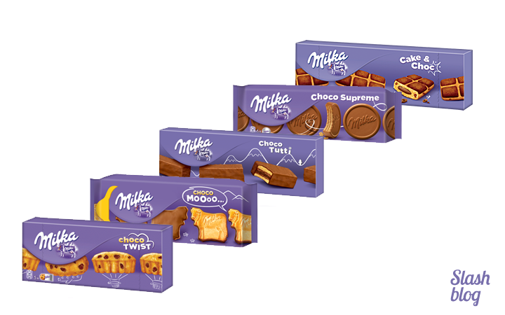 Milka-snacking