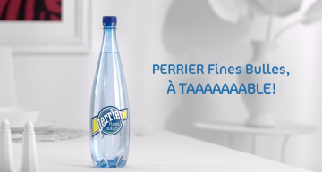 Perrier Fines Bulles – A taaaaaaable !
